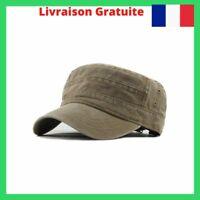 Casquette Militaire Vintage pour Homme 4 Couleurs Kaki/Noir/Vert/Bleu Marine