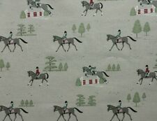 Sophie Allport Horse Riding Fabric Remnant Fat Quarter 50 X 50cm