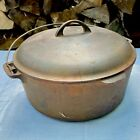 RARE Vintage Griswold~Best Made No 10 Cast Iron Dutch Oven w/Lid  ~ 1920's Sears