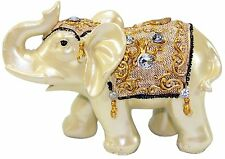"""Feng Shui 4.5""""(H) Elephant Trunk Statue Lucky Wealth Figurine Gift & Home Decor"""