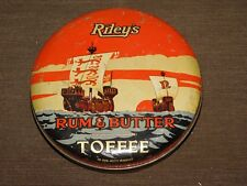VINTAGE RILEY'S RUM & BUTTER TOFFEE HALIFAX ENGLAND CANDY  TIN CAN  *EMPTY*