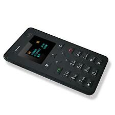 "New 1.0"" Thin AEKU M5 Card Mobile Phone Mini Pocket GSM Children Card Phone B JS"