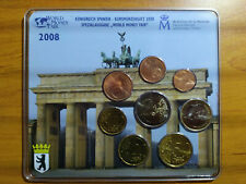 Mini set BU Euro KMS Espagne 2008 World Money Fair Berlin Spain Epuisé 500 ex