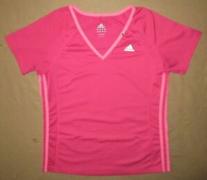 Adidas Fitness Shirt Med/LRG Poly/Spandex Yoga Training Workout Casual Beach Hot