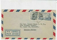 spain  1940s airmail stamps cover ref 19339