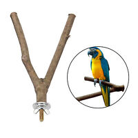 Bird Perch Wood Stand Bird Cage Swing Branch for Parrot Parakeet Cockatiel