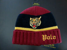 Polo RALPH LAUREN Beanie Skully Hat Rugby Stripe Colorblocked Tiger Gothic Polo