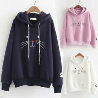 Fashion Women Top Cat Printing Shirt Long Sleeve Sweatshirt Casual Loose Blouse