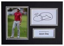 Jason Day Signed Autograph A4 photo mount display Golf Sport Coa