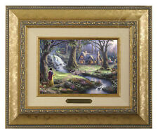 Thomas Kinkade Snow White Framed Brushwork (Gold Frame)