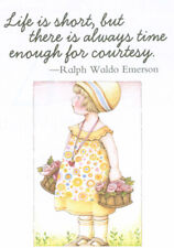 Ralph Waldo Emerson-Time For Courtesy-Handcrafted Magnet-W/Mary Engelbreit art