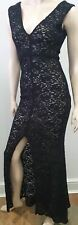 ALICE & OLIVIA Black Floral Lace Embroidered Long Length Maxi Dress 2 UK6 BNWT
