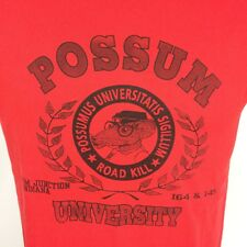 Vintage 80s Possum College University Thin Distressed T Shirt Sports junction in