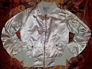 Baseball Varsity Silver Sports Jacket M