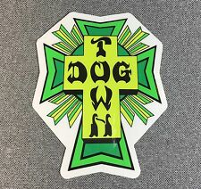 Dogtown Green Cross Skateboard Sticker 4.2 in x 3.5 in si