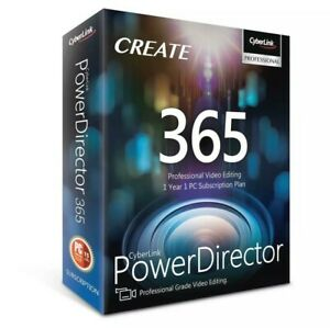 CyberLink PowerDirector 365, 1-Year Subscription, DVD and Download Code