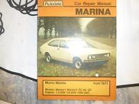 Morris Marina Repair manual. From 1971 Autodata.