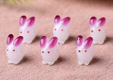 10pcs handmade Lampwork glass  Beads flower 11*16mm---white rabbit