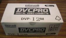 10 x Maxell Vidéo Numérique Cassette 12DVP 12 m DVCPRO