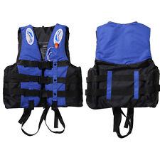 Polyester Adult Life Jacket Swimming Boating Ski Foam Vest+Whistle Fully Enclose
