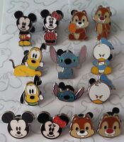Faces of Mickey Mouse and Friends Cute Characters Mini Disney Pin Make a Set Lot