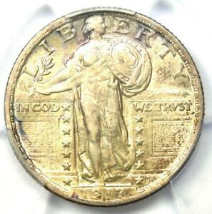 1917 Standing Liberty Quarter 25C Type 2 Coin - Certified PCGS AU58 - Rare Coin!