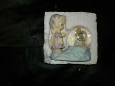"Precious Moments ""Girl With Snowman Mini Waterball"" #465356 by Enesco"