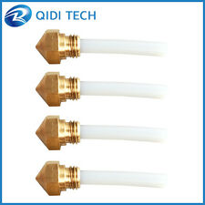 0.4mm 4 nozzles and 4 ptfe tube for QIDI TECH I and XONE(2) 3d printer