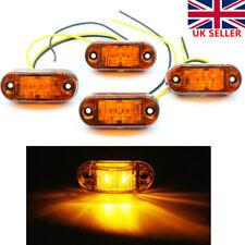 4pcs LED Front Side Marker Amber Light Truck Van Trailer Indicator Lamp 12V 24V