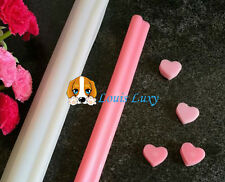 Heart shape silicone tube soap mould food grade chocolate tool decoration