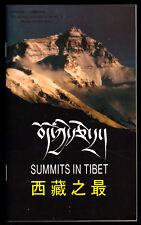 touristische Broschüre, Summits in Tibet, Gipfeltreffen in Tibet, 1986