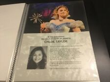 Wicked The Musical London Chloe Taylor A4 Standby/Played By Sheet/Card