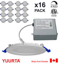 YUURTA (16-pack) 4 Inch Pot Light 10W Recessed Ceiling LED Downlight Dimmable