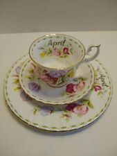 Royal Albert Flower of the Month Series; April; Sweet Pea China 3 PC Set - Plate