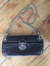 Talbots Leather Small Handbag Clutch Black