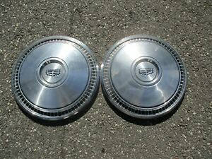 lot of 2 factory 1973 1974 Mercury Marquis 15 inch hubcaps wheel covers