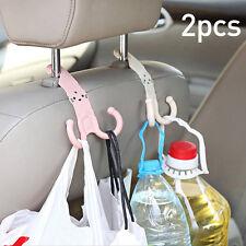 2pcs Headrest Hook Car Seat Hanger Cartoon Design Coat Bag Cute Accessories