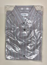 Boys Calvin Klein Long Sleeve Dress Thin Stripe Shirt Size 18 Slim Fit NIP