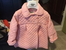 ARMANI BABYGIRLS  QUILTED JACKET PINK SIZE 12 MONTHS NWT