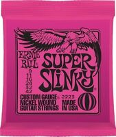 **3 SETS ERNIE BALL 2223 SUPER SLINKY ELECTRIC GUITAR STRINGS 9-42**