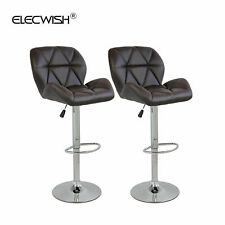 Set of 2 Swivel Bar Stools Hydraulic Adjustable Counter Bar Chair Dining Kitchen