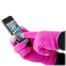 Guantes para pantalla tactil tablet Ipad Smartphone elastico color rosa fucsia