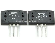 1x 2SA1215-Y & 1x 2SC2921-Y Original SANKEN Audio High Power Transistors.