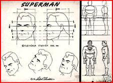 Superman Max Fleischer cartoon cel animation original art print not signed