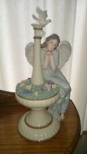 "Grandeur Noel 12"" Porcelain Angel Collectors Edition Angel at Fountain"