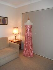 Designer Bariano Sequin Patterned Ladies Gown Size 10