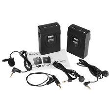 BOYA 2.4GHZ GFSK Wireless Lapel Lavalier Microphone System Camera Camcorder F4F3