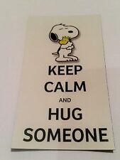 !! Snoopy & Woodstock / Peanuts / Keep CALM / Kühlschrankmagnet Magnet  / Neu !!