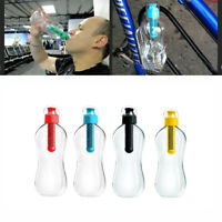 550ML Reusable Water Hydration Filtration Bottle Outdoor Sport Drinking Equip G1