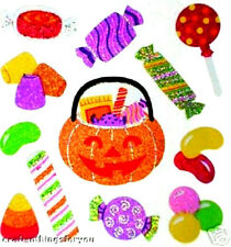 Sandylion RaRe Glittery HALLOWEEN Treats Scrapbook Scarpbooking Stickers. T20